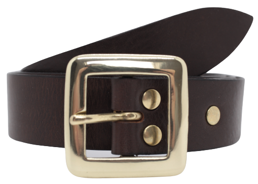 Dark Brown 32mm Trouser Belt