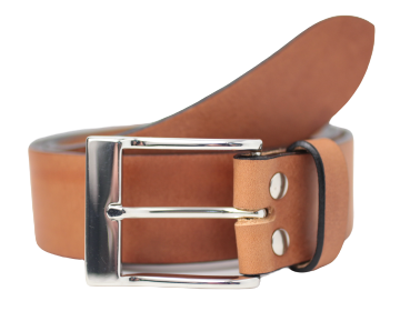 Dark Tan 1.5 Inch Leather Belt