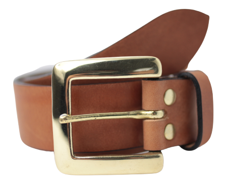 Dark Tan 1.5 Leather Belt