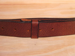 "1 1/4"" Inch Dark Brown Leather Belt Strap"