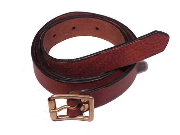 Dark Brown Leather Trouser Belt