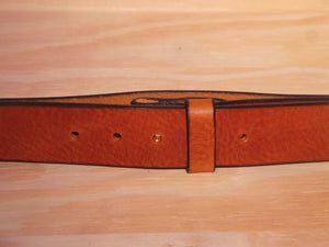 "1 1/2"" Inch Dark Tan Leather Belt Strap"