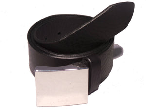 Designer Black Leather Belt