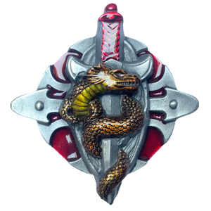 Dragon Talisman Red Belt Buckle