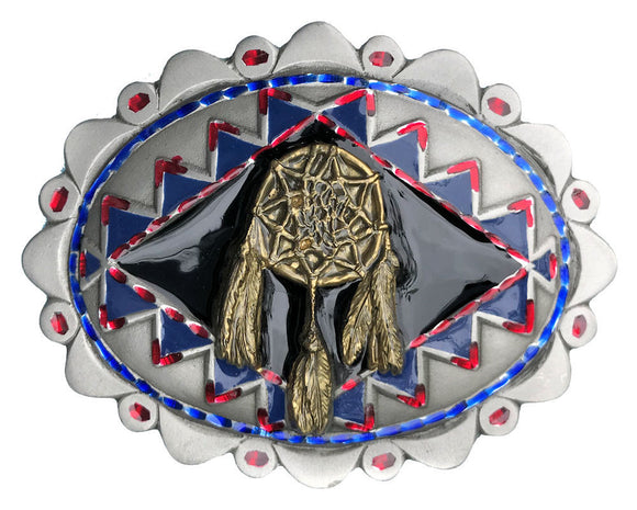 Dream Catcher Black Gold Belt Buckle