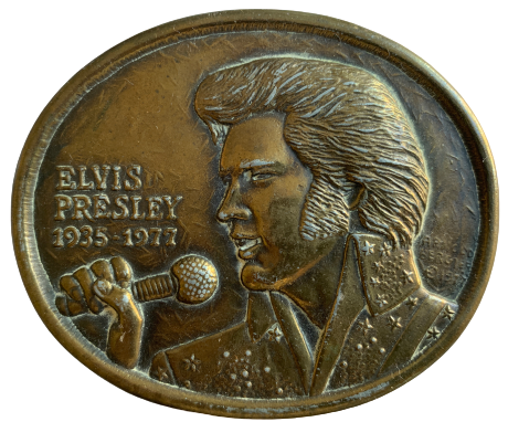 Elvis Presley First Edition 1935 1977 Belt Buckle