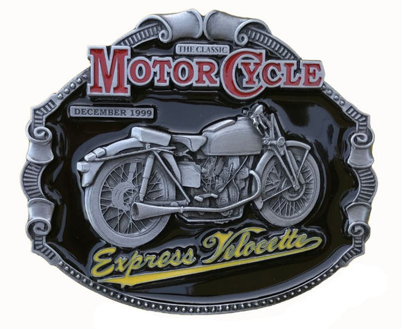 Express Velocette Motorcycle Belt Buckle