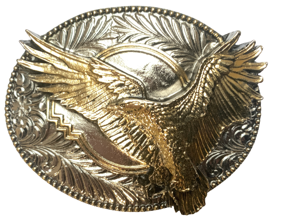 Flying Eagle Gold Belt Buckle