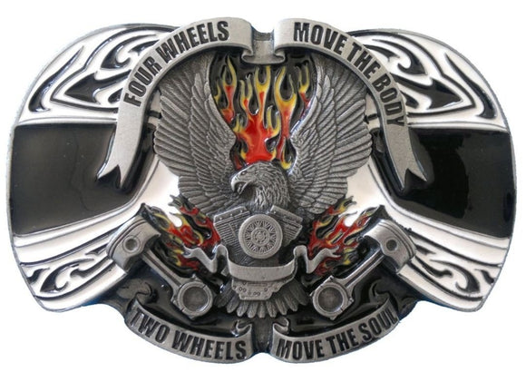 Four Wheels Move The Body Belt Buckle