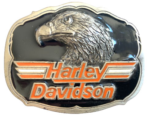 Harley Davidson Eagle Head Black Belt Buckle