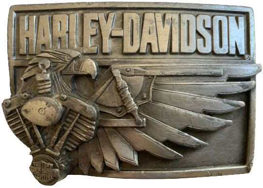 Harley Davidson Eagle Wing Engine Belt Buckle