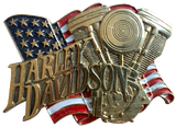 Harley Davidson Engine Belt Buckle