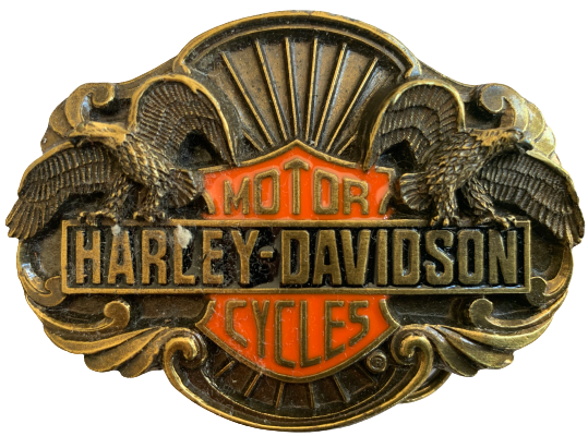 Harley Davidson Flying Eagles Gold Belt Buckle