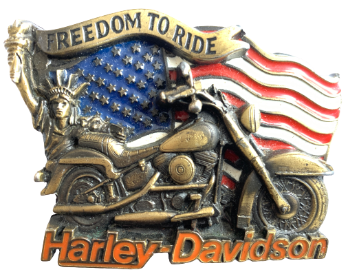 Harley Davidson Freedom to Ride Gold Belt Buckle