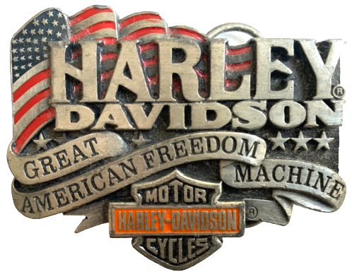 Harley Davidson Great American Freedom Machine Belt Buckle