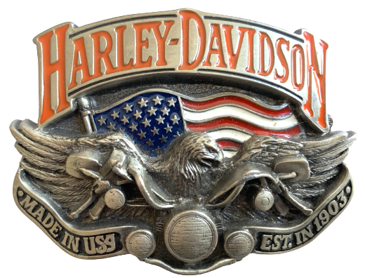 Harley Davidson Made in USA Silver Belt Buckle