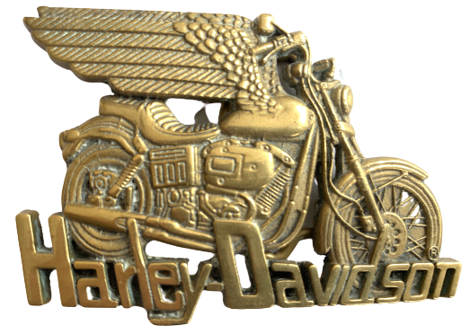 Harley Davidson Winged Brass Belt Buckle