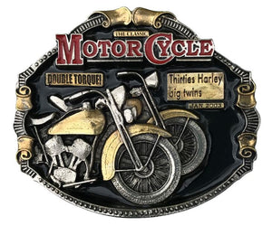 Harley Big Twins Gold Colour Belt Buckle