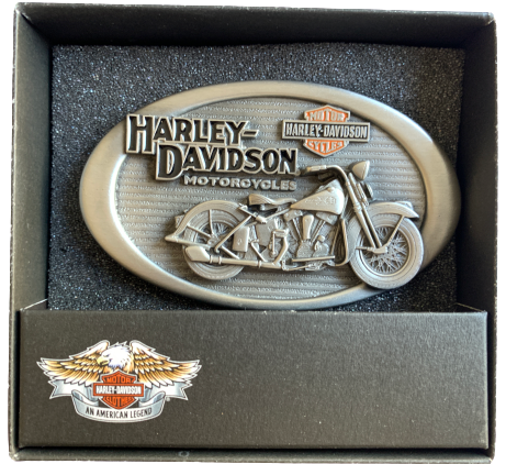 Harley Davidson Antique Bike Belt Buckle