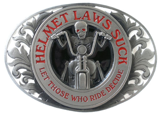 Helmet Laws Suck Belt Buckle