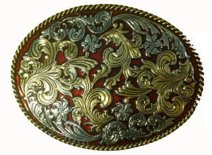 Large Oval Design Belt Buckle
