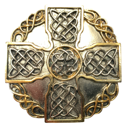 Celtic Cross Octagon Belt Buckle