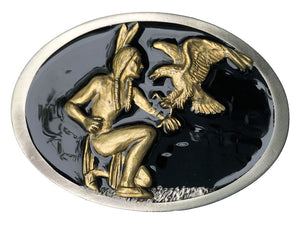 Indian and Eagle Belt Buckle
