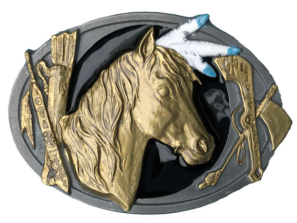 Indian Horse Belt Buckle