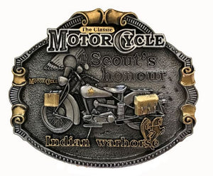 Indian Motorcycle Gold Belt Buckle