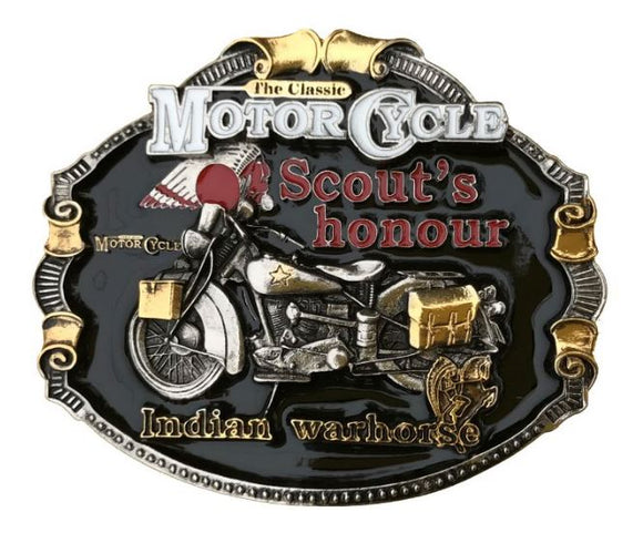 Indian Motorcycles Gold Colour Belt Buckle