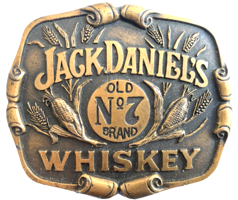Jack Daniels Old No 7 Brand Whiskey Belt Buckle