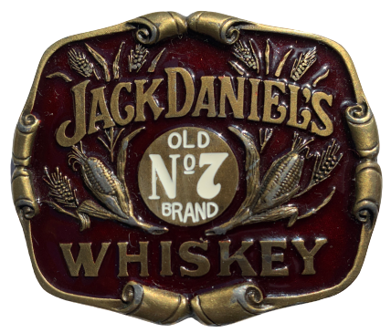 Jack Daniels Old No 7 Brand Whiskey Red Belt Buckle
