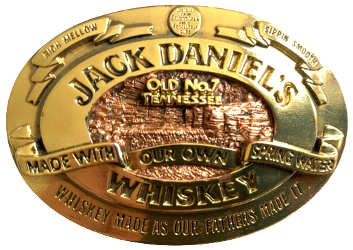 Jack Daniels Old No 7 Tennessee Gold Belt Buckle