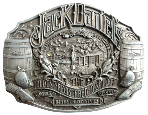Jack Daniels Oldest Registered Distillery Belt Buckle