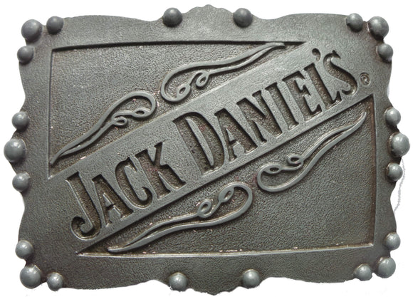 Licensed Grey Jack Daniels Belt Buckle