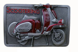 Lambretta Scooter Red Belt Buckle