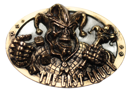 Last Laugh Gold Silver Belt Buckle