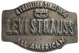 Vintage Levi Strauss A Tradition Since 1850 Belt Buckle