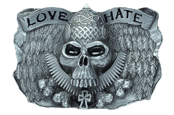 Love and Hate Belt Buckle