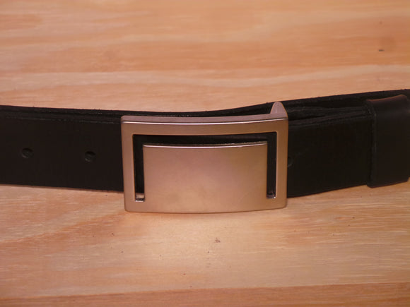 Matt Silver Cut Rectangle 35mm Buckle