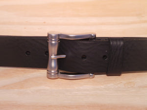 38mm Black Leather Trouser Belt