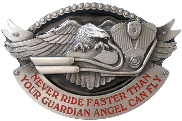 Never Ride Faster Belt Buckle