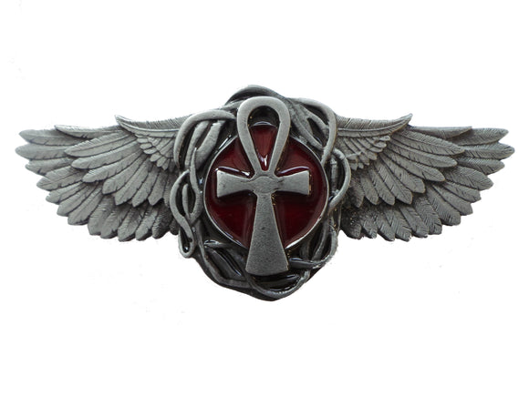 Osirian Cross and Wings Belt Buckle