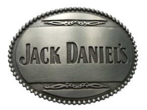 Pewter Jack Daniels Belt Buckle
