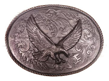 Pewter Rodeo Eagle Belt Buckle