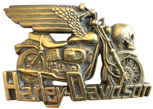 Rare 1980 Harley Davidson Winged Skull Belt Buckle