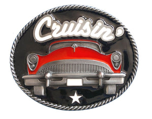 Red Cruisin Belt Buckle