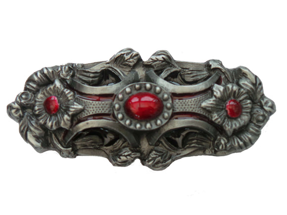 Red Pagan Flower Belt Buckle