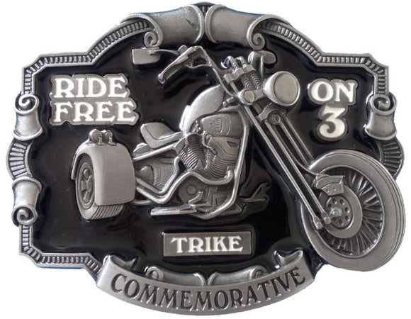 Ride Free on 3 Belt Buckle