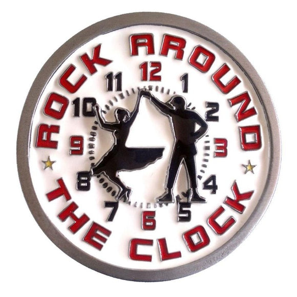Rock Around the Clock Belt Buckle